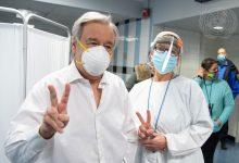Photo of UN chief receives COVID-19 vaccine in New York
