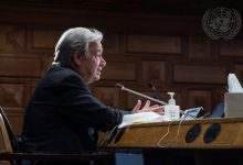 Photo of Guterres calls on US to lead global vaccination plan effort, climate action, welcoming Blinken to Headquarters