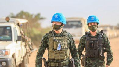 Photo of With engineers and roadway repair crews, Thai blue helmets help keep South Sudan moving
